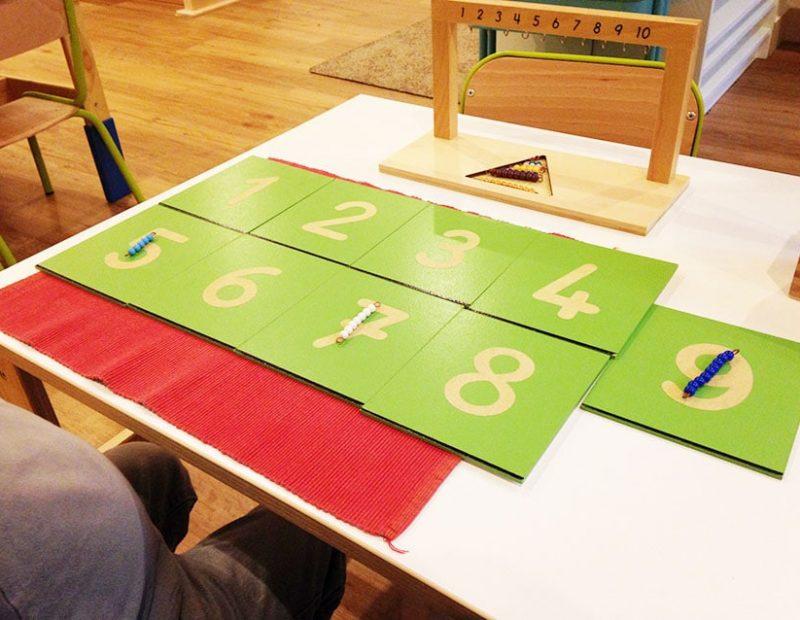 activités montessori avec chiffres